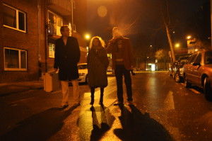 Jonas (Sancho Heimrath), Eva (Nadine Kiesewalter) und Marc (Robert Seiler)